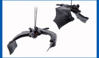 Halloween supplies Trick Toys Simulation Bats Pendant Masquerade kids birthday party supplies (2pcs/lot packing) Large