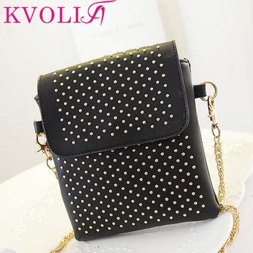 Hot fashion women handbag rivet shoulder bags vintage messenger bags coin purse cell phone handbags new 2014 HL2486(China (Mainland))