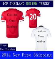 A+++ 2014 2015 New Thailand United Home RED Rooney van Persie Januzaj 14 15 Thai Soccer Jersey