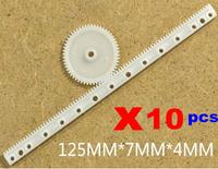10 pcs x SN-Gear Rack 0.5 modulus Plastic EDS-rack pinion drive rod DIY parts