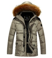 Suitable for -40C Warm Man 90% Duck Down Jackets Men Outdoors Parkas Quilted Coat Business Casual Thicker Long Sections Padded