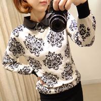 Women Sweater Winter&Autumn New Korea Style Casual Floral Slim Tricotado Knitted Pullover Blusas Femininas Inverno WZY003