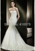 Mermaid Sweetheart Lace Long Wedding Dress With Appliques HWGJMWD2