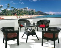 ODTC002 Garden leisure  imitation rattan chairs and tables outdoor cafe tea house balcony garden club cany art rattan chair