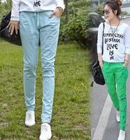 2014 New In Fashion Women Long Pants Korean Style Casual Elastic Waist Harem Female Pencil Pants Plus Size S-XXL