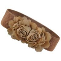 Fashion Korea Style Women Chiffon Flowers Waist Belts All Match Ladies Rose Cummerbunds Decoration Bands Free Shipping