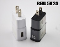 300pcs  2A US EU Plug Travel Wall Charger For Samsung Galaxy S3 S4  Note 2 3 N7100 with charging protection chip Charge adapter