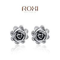 2014 new fashion flower crystal luxury original design zircon women earrings real brincos grandes jewelry genuine freeshipping