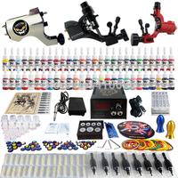 Wholesale - Complete Tattoo Kit 3 Pro Rotary Machine Guns 54 Inks Power Supply Needle Grips TK355