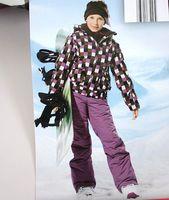 Skiing clothing skiing pants ski suit female big boy ski suit set child