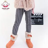 2014 new fashion Children's clothing female child legging plus velvet thickening child trousers boots warm pants for girls