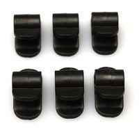 New 6pcs small Plastic Cable Fixer Fastener Wire Cord Cable Clip Organizer Holder Black 85802