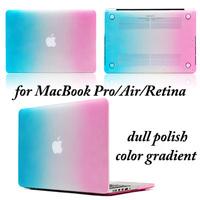 50pcs/lot,Rainbow Full Body Case Protector for MacBook Retina 15.4,13.3/Pro 15.4,13.3/Air 13.3,11.6 -- Color gradient (LJ-MB-4)