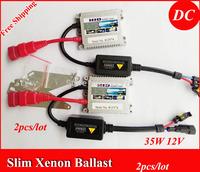 Free Shipping!!2pcs/lot DC 35W super slim ballast,12 month warranty for HID XENON headlight