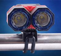 Highquality 5000Lm 2x CREE XML T6 LED Front Bike Light Bike Headlamp+Blue light