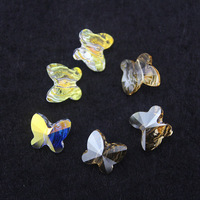 New arrival beautiful 6/8/10mm butterfly shape crystal beads 2 colors 20pcs/lot high quality original factory swa austrian sj006