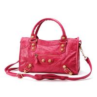2014 women's fashion handbag gold ingot portable Medium city rose gold handbag motorcycle bag 4 colors