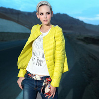 free shipping 2014 new winter fashion women's round neck short paragraph Slim single-breasted down jacket coat #8847