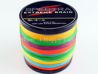 Hot sale 90LB 0.50mm PE Dyneema Braided Fishing Line 500M 547 Yard Spectra Braid Multicolor