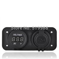 10pcs/lot Free Shipping Dual Socket Auto Car Cigarette Lighter socket Splitter Charger Adapter 12V Black motorcycle
