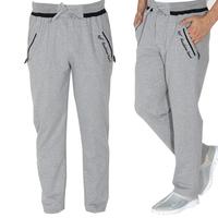 Men Elastic Waist Zipper Pocket Cotton Tracksuit Sports Pants Men Jogging Yoga Trousers Running Joggers Man Boys Big Size XL-4XL