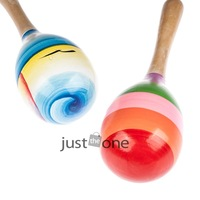 Wooden Ball Size L Child Kid Boby Toy Percussion Musical Instruments Sand Hammer