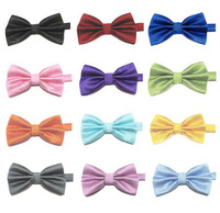 10pcs/lot Mens Bowtie Formal commercial bow tie male solid color marriage bow ties butterfly cravat bowtie 23 color you pick