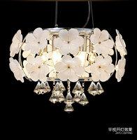 Modern brief led crystal pendant ceiling lamp fashion luxury petals lighting lamps 6X E14 LED Bulb 220V Art decoration