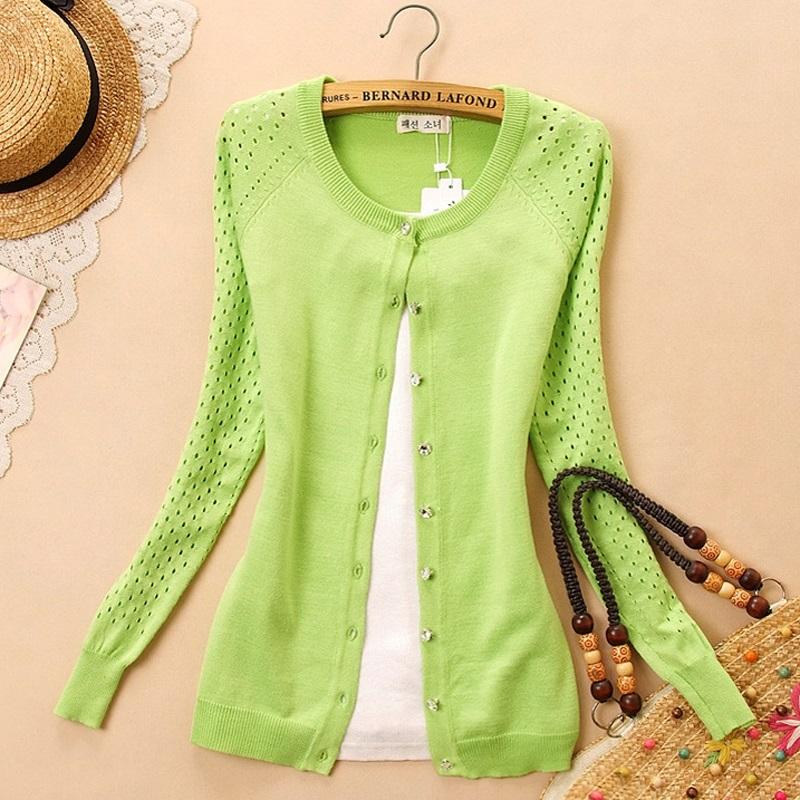 2014 outono todos -match protetor solar recorte camisola fina camisa de ar condicionado outerwear camisola básica cardigan feminino fina(China (Mainland))