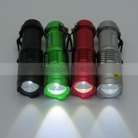300LM 7W Mini CREE Q5 LED Flashlight Torch Adjustable Focus Zoom Light Lamp