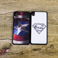 Hot Sale Free Shipping Super Heroes Superman Captain America Soft TPU Back Case For HTC Desire 816