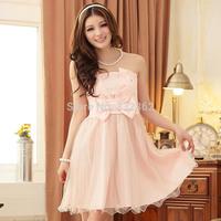 Free Shipping 2014 New Bra Bridesmaid Dress Short Paragraph Korean Version Of Puff Princess Dress Bridesmaid Dress