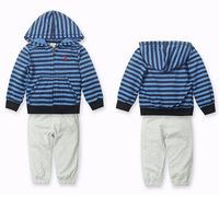 Autumn children's sets baby boy coat and pants outfits roupa infantil striped kids clothes sets conjunto de roupa clothing set