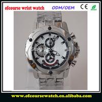 1pcs Free Shipping  Brand Wrist Watch Tour-Chrono Original Quartz Full Steel F16525 Popular Fascinate Watches For Men With Box
