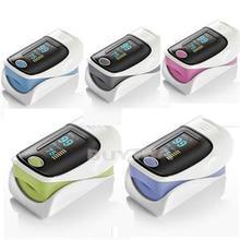 HE Multicolor Practical Finger Pulse Oximeter Blood Oxygen SPO2 PR Saturation Oximetro Monitor Household Health Monitors