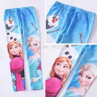 Girls leggings 2014 frozen Girl pants Anna elsa Baby leggings frozen legging 6 styles kids cotton trousers 3-10years