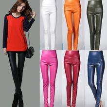 7 Color!Big Size S-XL European American High Waist Plus Warm Faux Leather Trousers Pants Winter Casual Slim Women Leggings(China (Mainland))