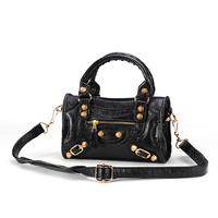 Bags 2014 women's handbag women's bags rose daikin ingot mini for mini vintage motorcycle bag black color