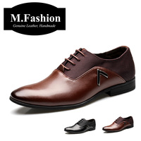 British fashion 2014 Business men's leather shoes high quality oxfords for men leather flats pointed toe official dress shoes