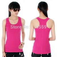 Shirt Tops 2014 Women's Fashion Simple Style Round Neck Sleeveless Sexy tight Tank Tops Asymmetrical Shirt