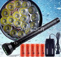 23000 Lm Bright flashlight 18xCree XM-L T6 LED Flashlight 26650 Battery+Charger