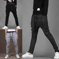 Mens Training Solid Skinny Pants Hip Jogging Long Harem Color Hop Men Dance Trousers free shipping