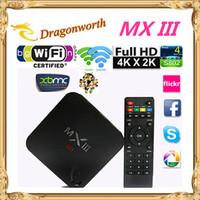 Amlogic Quad Core 2.0GHz MINI PC MX 3 Ultra 4K Video MXIII S802 Android 4.4 TV BOX 2GB 8GB bluetooth dual band wifi MX III