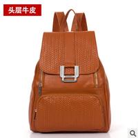 90%OFF Sale Women's Backpack Genuine Leather School Bag Black Brown Backpack Girl Rucksack Leather Shoulder Bag For Women