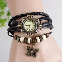 1PC Fashion Black Retro Women's Ladies Girls Lovely Hours Christmas Gift Bracelet Quartz Wrist Watches, Free Shipping