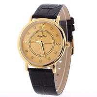 New Style Men's Wear Brand Watches, Women Jewelry Geneva Watches, Leather Rhinestone Clothing Quartz Watch Free Shipping