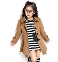 The new 2013 girl coat Han edition girls hoodies princess windbreaker jacket the spring and autumn girls coat dust coat