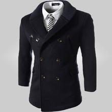 Free Shipping 2014 Hot Men's  Dust Coat Male slim fashion suit  Size 94(China (Mainland))