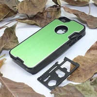 New cellphone case outdoor case for iPhone 5 5S  with Camping Multifunction Knife 100pcs/lot
