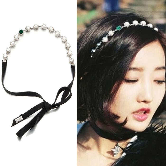 Hillsionly 2015 fashion Pearl Rhinestone Hair Head Band Headband Necklace Waist Chain shopping(China (Mainland))